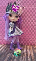 Blythe A Day February 18, 19, 20, 22.... Queen of hearts, Amethyst, Walking the Dinosaur--OH and Polka Dot (A Little Fairy Magic/Leezapea1) Tags: amethyst phew polkadot queenofhearts artemiscustom walkingthedinosaur blytheadayfebruary2016