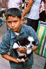 pups (beau patrick coulon) Tags: pet india gold market kodak 35mmfilm canonae1 kolkata streetkids calcutta 50mm18primelens