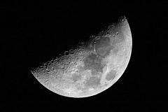 half moon (cfaobam) Tags: half moon mond halbmond astronomie goto deutschland germany astrophotography astrophoto astrofoto bayern astrofotografie cfaobam astronomy telescope teleskop celestronvx skywatcher explorer2016