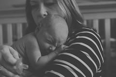 Newborn with mama (moke076) Tags: bw baby mom nikon child stripes w mother newborn wrinkles d7000