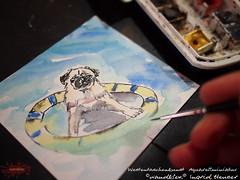 badengehn (wandklex Ingrid Heuser freischaffende Künstlerin) Tags: hund etsy etsyshop dawanda auftragsmalerei wandklex wandkleks wandklecks etsyresolution2016 etsyresolutionde