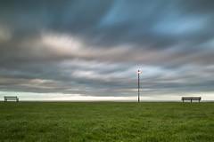 Seaview 2 (John Pettigrew) Tags: sunset beach lamp clouds bench nikon long exposure view seat cliffs filter d750 tamron minimalist gorleston advantix clifftop tiffen 2470mm