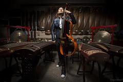 Dana Leong at Chinese music store (SalvaMendez) Tags: china musician music store shanghai dana cello leong