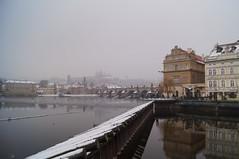 DSC02566 (Hisav) Tags: travel winter snow reflection castle river europe prague praha praga reflextion