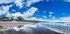 Sabang Port Panorama (Kostas Trovas) Tags: travel sea sky panorama nature beautiful clouds canon landscape outdoors boat asia flickr paradise philippines handheld bicol stitched hdr wanderer sabang bangka camarinessur lr6 500px instagram kostasimages