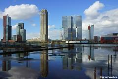 Rotterdam (MichelvanKooten.werkaandemuur.nl) Tags: holland reflection netherlands skyline architecture reflections rotterdam skyscrapers van kop 010 zuid rdam rotterdamzuid wilhelminapier
