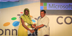 Microsoft Innovation Awards Winner in the Gender Youth and Vulnerable Groups is Nairobits Trust. Presented to Rukia Abdalla (2)