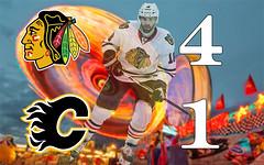 LADD LEADS HAWKS to VICTORY (Nix Pix1) Tags: calgaryflames calgarystampede chicagoblackhawks nhlhockey andrewladd