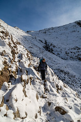 Lake District Feb 2016 (2) 407 - Icy bit on the Corridor Route back from Sca Fell Pike (Mark Schofield @ JB Schofield) Tags: winter england sky cliff brown lake snow mountains green english ice water rock high allen path top district sca piers great lakes scenic peak hills ill national bow cumbria fells trust end summit moors pike broad gill tarn crags base fell cairn gable hause wast wasdale esk ghyll seathwaite honister lingmell styhead glaramara stonethwaite mountainspark branstree
