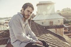 Jaime (Andrea Bulhosa) Tags: city sunset portrait man guy rooftop portugal sunshine retrato lisboa lisbon sunny tejado