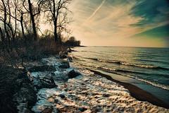 DSC_2151 (Gaby Swanson, Photographer) Tags: winter lake snow beach nature water beauty landscape outdoors photography lakeerie pennsylvania shore presqueisle naturephotography lakeeriebeach palandscape paseascapes presquesislestatepark