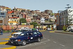 Peru, Arequipa, view from the bus station,  urban scape with informal buildings #eru (bilwander) Tags: travel peru solo arequipa busstation urbanscape bilwander eru