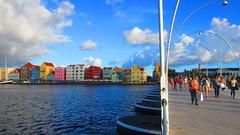 Curacao (Nelo Hotsuma) Tags: bridge anna netherlands dutch saint st shopping island bay village fort emma tourist queen curacao caribbean willemstad pontoon rif antilles otrabanda punda riffort