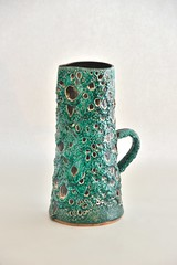 cyclope_green_DSC0065 (dekker@dekker) Tags: france lava ceramics fat vase pottery vaas keramiek cyclope vallauris volcanicglazes