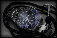 Rolex GMT Master II 116710 BLNR / Bracelet (Seb.04) Tags: blue black macro canon steel watch 100mm master ii bracelet anchor batman 100 mm rolex gmt 6d 116710 blnr