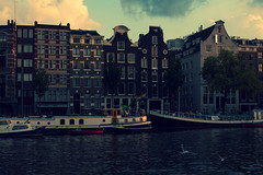 volver II (s.f.p.) Tags: trip travel viaje sunset summer vacation holland netherlands dutch amsterdam rio architecture river boats atardecer arquitectura downtown centro verano holanda barcas centrum vacaciones amstel viajar holandes holandesa