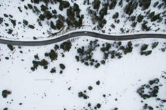Pyrenees. (arturii!) Tags: road above trip travel winter mountain snow mountains cold cars beauty up wow flying high amazing cool nice interesting holidays driving tour view superb snake awesome curves great roadtrip aerial route skiresort stunning viatge asphalt visual vacations impressive andorra pyrenees gettyimages pirineus drone arturii arturdebattk canonoes6d