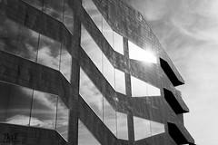 Reflejos (borjamuro) Tags: barcelona sky espaa cloud sun reflection sol museum architecture clouds mirror spain arquitectura nikon 7100 catalonia architectural espana cielo nubes espejo reflejo catalunya museo nube catalua bcd agbar cataluna d7100