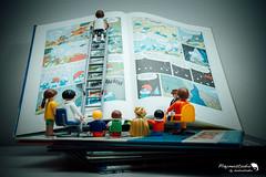 projet 52 - S11 : La petite histoire du we....un peu dur de tourner les pages :-) (bobostudio) Tags: toys lecture playmobil bande playmobile playmo dessinée projet52 playmobillovers playmobilfans