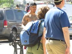 IMG_0192 (FOTOSinDC) Tags: shirtless man hot men tattoo ink muscle candid ripped handsome hunk tattoos sweaty jeans cap sweat guns thug