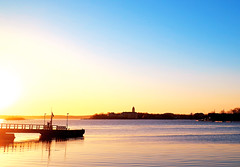 A New Beginning (samikahkonen) Tags: sea sky sun seascape sunrise finland outdoors photography helsinki europe calm baltic nordic rise suomenlinna scandinvaia