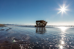 2016-01-10 - Peter Iredale Shipwreck-7 (www.bazpics.com) Tags: ocean sea usa beach water oregon america skeleton sand ship pacific or wave peter shipwreck frame hull wreck iredale