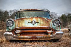 Roadside Rocket (milfodd) Tags: march classiccar hdr oldsmobile 2016 rocket88 potdmarch20th2016 upload46000