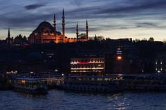 DSC_0277 (zeynepcos) Tags: bridge sunset sea sky cloud skyline turkey boat view cloudy outdoor dusk istanbul mosque goldenhorn suleymaniye halic eminonu