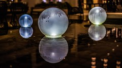Orb (Oliver Leveritt) Tags: water fountain lights lobby globes sigma30mmf14exdchsm oliverleverittphotography nikond7100