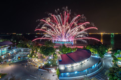 Wings Of Time Sentosa (BP Chua) Tags: show night singapore colours fireworks tourist sentosa wingsoftime