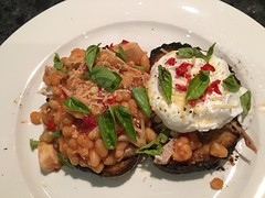 Beans on Toast (NicnBill) Tags: chile chicken cheese dinner garden beans chili toast egg australia melbourne victoria fresh basil spicy chilli parmesan sourdough baked poached elsternwick theperfectegg breakfastofhcampions