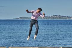 One of those jump shot (photodesignch) Tags: ocean seattle sea beach water waterfront pentax takumar outdoor super adapter alki alkibeach limited smc pentax67 pentaxfa 4319 7718 10524 sonya7 pentaxfasmc7718limited pentaxfasmc4319limited p645k