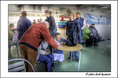 ON BOARD THE FERRY (Derek Hyamson) Tags: ferry liverpool candids hdr mersey hmsliverpool