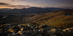 """Last Light"": Snowdonia Panorama (damiendavis) Tags: uk winter light sunset shadow mountain colors rock wales landscape evening colours afternoon unitedkingdom outdoor dusk cymru hills workshop browns golds snowdon british hillside snowdonia tones gwynedd goldenlight northwales softtones cnicht sidelight landscapephotography snowdonianationalpark cwmcroesor croesor llanfrothen moelwynion mountainphotography gregwhitton moelwynionmountainrange"
