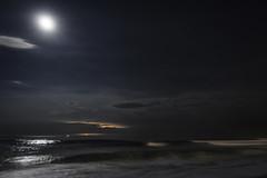 Moon Stars Lightning (James Loesch) Tags: reflection stars moonrise lightning seasidepark