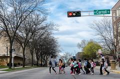 Hurry_Hurry #kids #street (NetAgra) Tags: street city wisconsin crossing walk pedestrian run madison stoplight crosswalk tamron nikon7000 carolstchildren