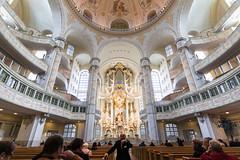 Im Inneren der Frauenkirche - Inside of the Church Frauenkirche (ralfkai41) Tags: church architecture dresden kirche organ architektur frauenkirche weitwinkel silbermannorgel wideankle