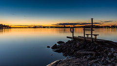 When the sun goes down (mattiboeschoten) Tags: blue sea seascape finland landscape helsinki rocks long exposure hour scandinavia lauttasaari