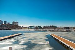 Port de Qubec (3) (BLEUnord) Tags: blue light ice pool port docks canon eos spring day mark iii jour clear bleu qubec april 5d quebeccity avril clair printemps zone glace bassin quais portuaire