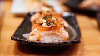 Off the Menu: Torched Salmon w/ Roasted Tomato, Garlic Aioli, Pesto, Caramelized Onion