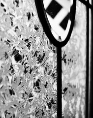 The Window to My World #windows #doors (tj_arriaga) Tags: windows blackandwhite glass monochrome closeup crystal sparkle shimmering editedonaniphone nikond5500
