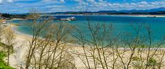 Bocana de la Bahia y Playa de la Magdalena, Santander. (Airbeluga) Tags: panorama espaa naturaleza santander cantabria marcantbrico paseoreinavictoria