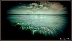 Il est pass au loin... (Dominique Dufour) Tags: mer horizon bateau navigation dominiquedufourphotos
