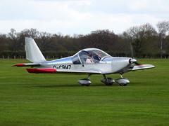 G-CBMZ Aerotechnik EV-97 Eurostar cn PFA 315-13890 Sywell 23Apr16 (kerrydavidtaylor) Tags: eurostar