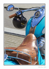 Chief's Seat (Seven_Wishes) Tags: uk leather reflections mirror indian helmet motorbike chrome american vehicle stitching speedometer saddle newcastleupontyne motocycle wingmirror tyneandwear skidlid newcastlequayside tpj canonef24105mmf4lis edoliver americanretro photoborder indianmotocycle canoneos1dmarkiv 7wishes newcastleupontynenortheast 7wishesphotography