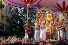 Blessings (rameshsar) Tags: morning colors fuji religion procession chennai 1655 festivalcrowds xe2 parthsarathytemple rtemple brahmotsovam