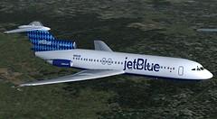 jetBlue Harlequin Trident 4 (jonf45 - 2 million views-Thank you) Tags: blue 2004 4 flight jet jetblue jb re bae simulator sim harlequin fs trident livery fs9 jbu repaint