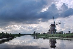 Landscape (corrieverhulst88) Tags: holland reflection mill water landscape kinderdijk molen