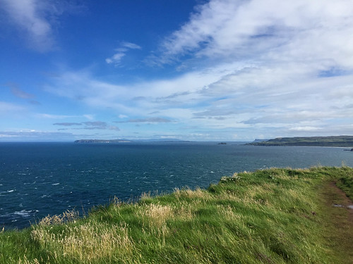 On the CCW looking east with Rathlin Island and Fair Head in the distance