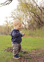 no sticks left untouched (There and Then ~) Tags: old baby nature spring sticks 11 months
